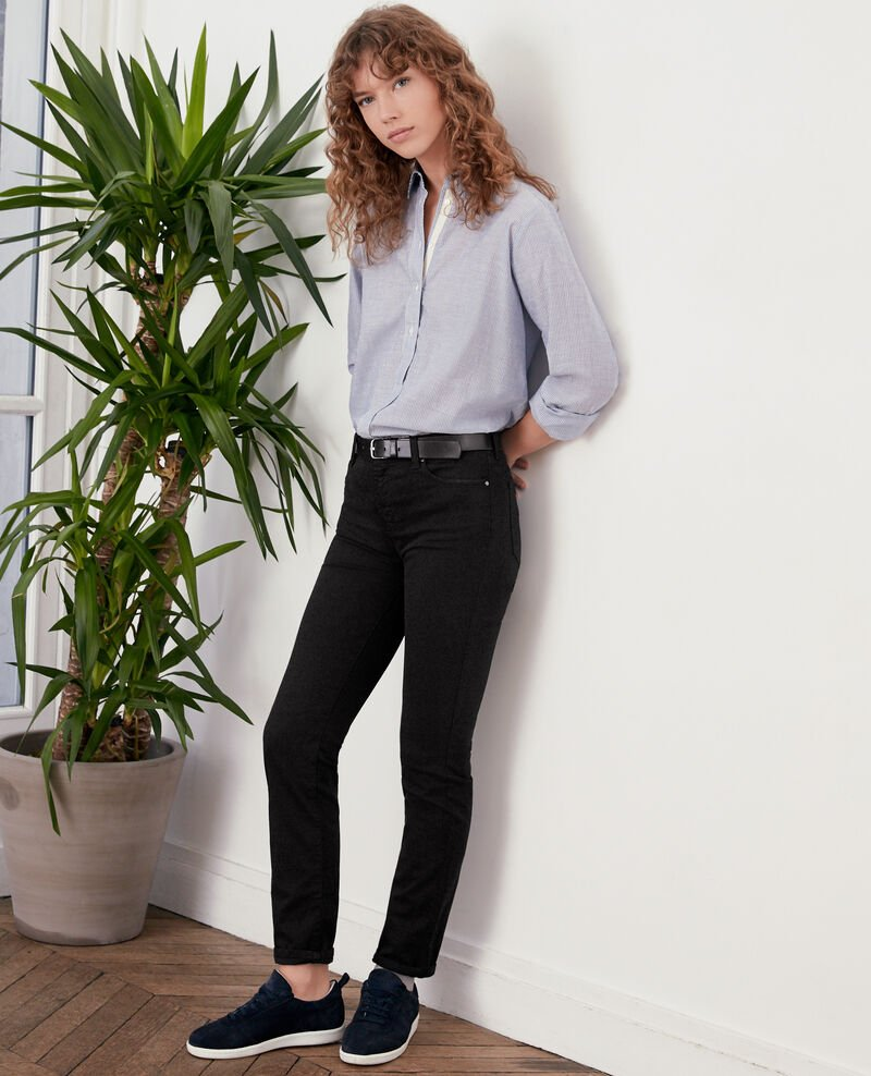 Soft touch cigarette fit jeans NOIR