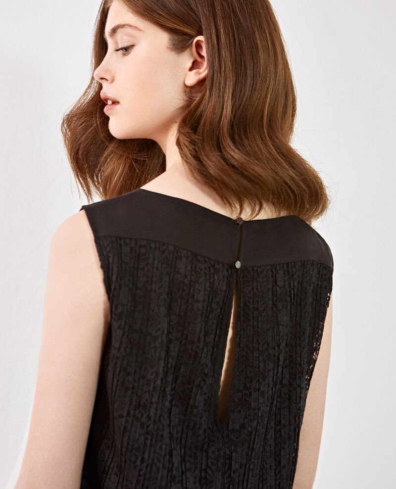 Jumpsuit with lace back Noir Dange