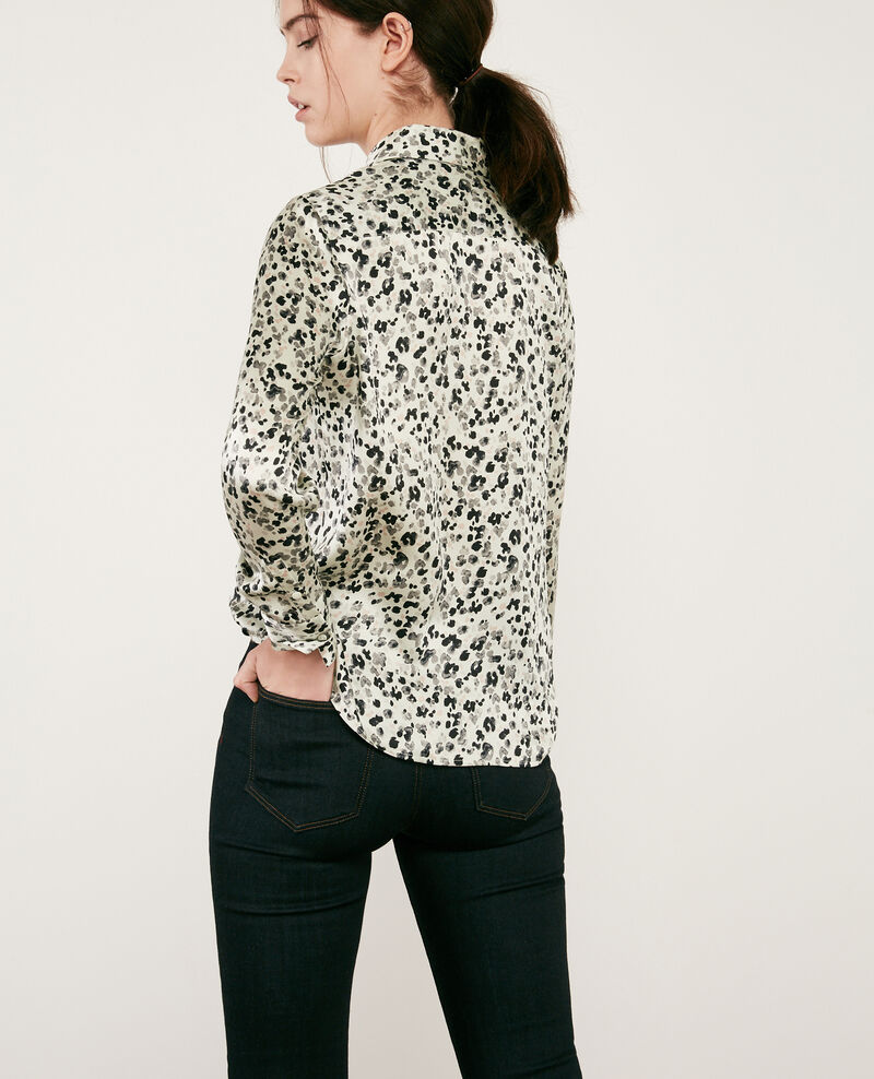 Printed silk shirt Wildcat light grey Danimal