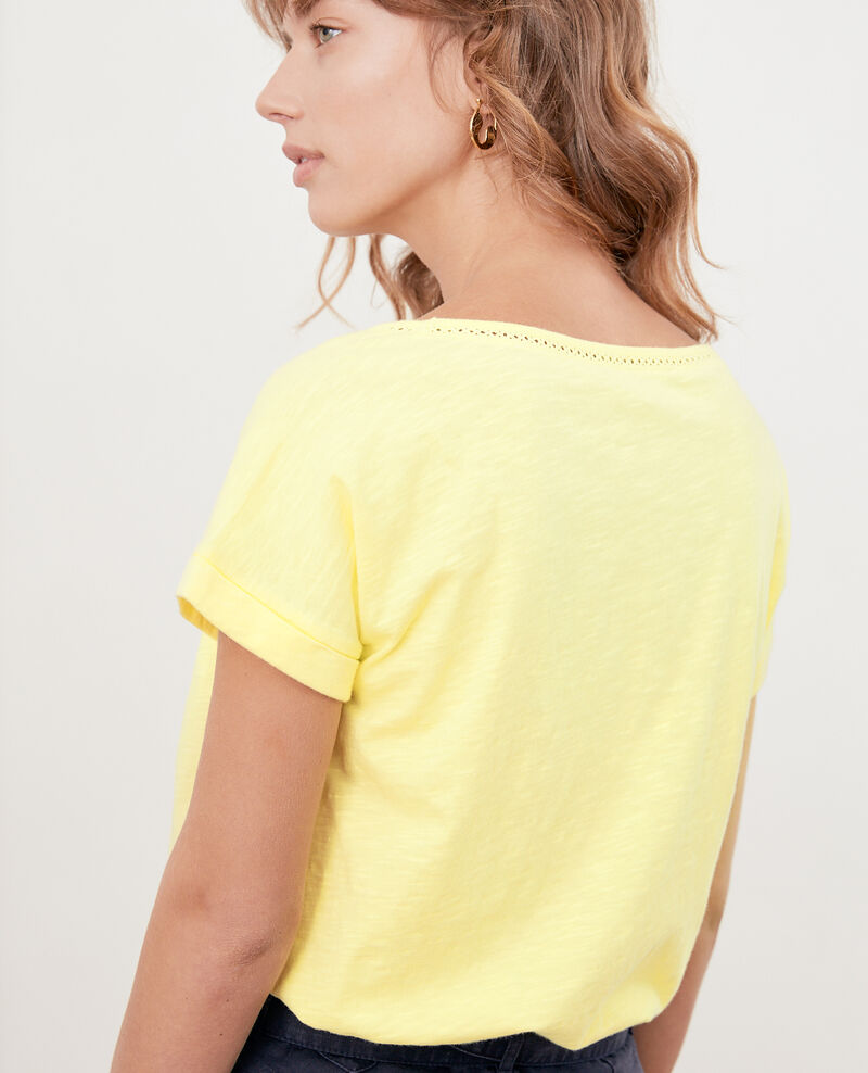 T-shirt with braid Lemonade Fenouil