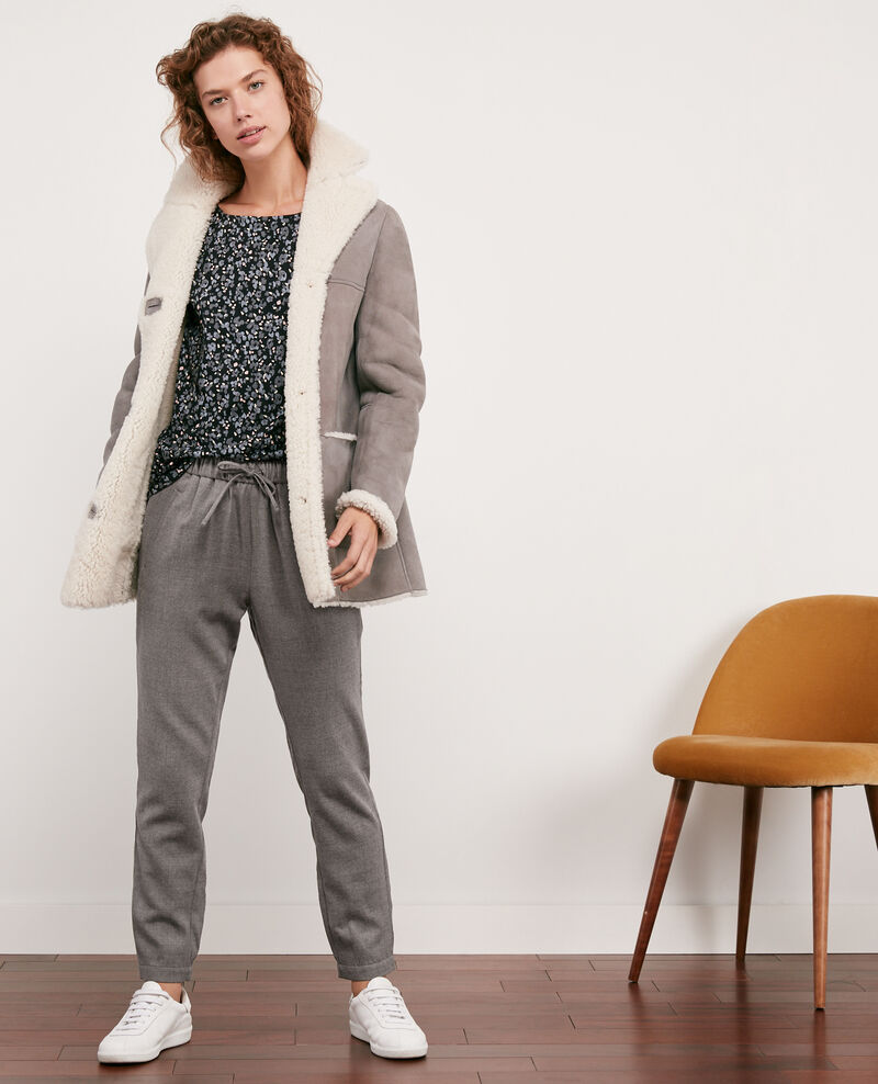 Wool trousers Light grey Dalray