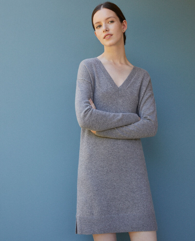 Cashmere dress LIGHT HEATHER GREY