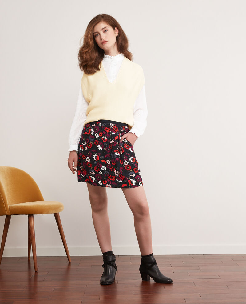 Printed skirt Poppies black Darthur