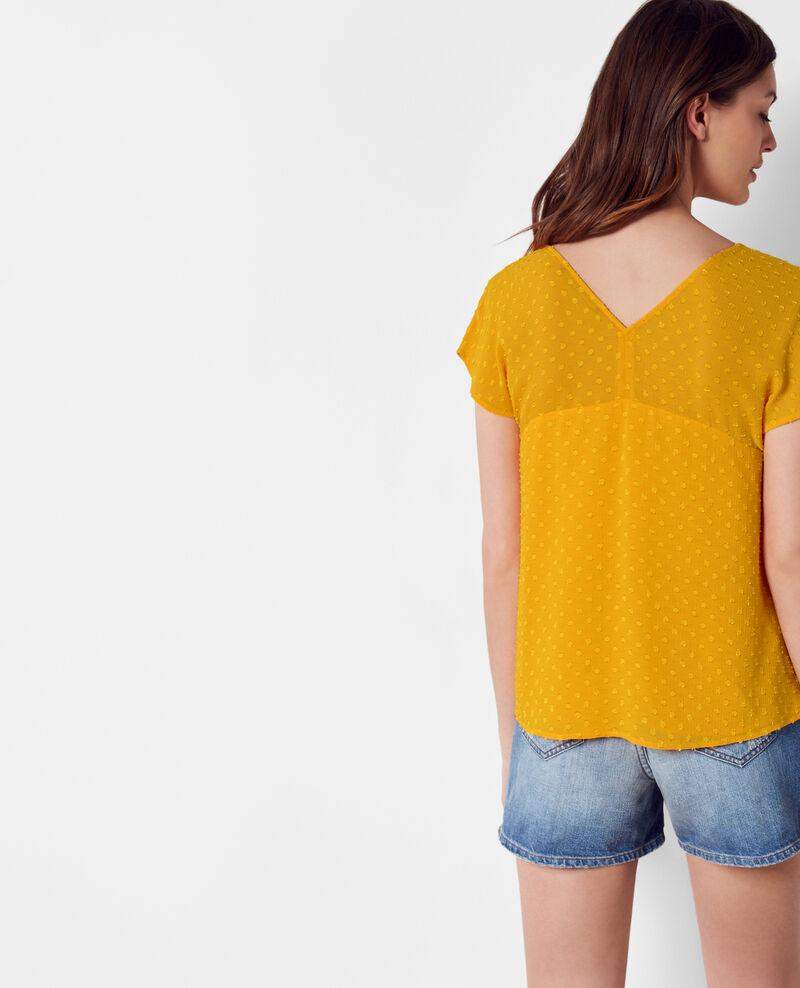 Loose-fitting top in dotted Swiss voile Crayola Citop