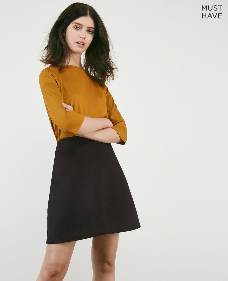 Double-faced wool skirt Noir Driage