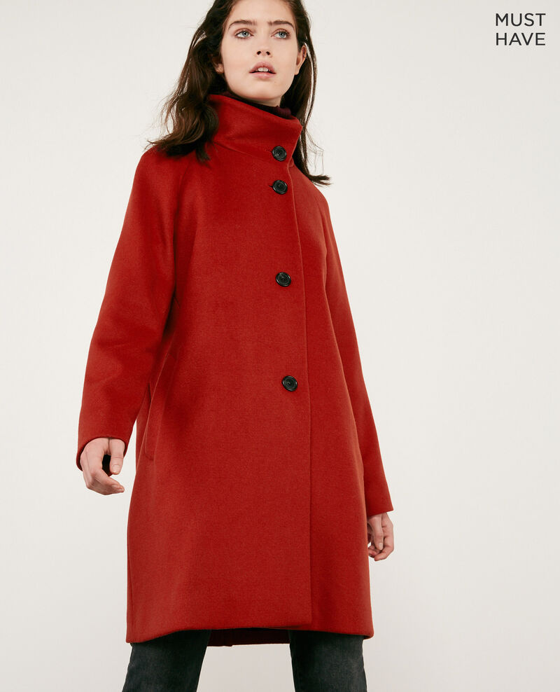 Wool coat RUST