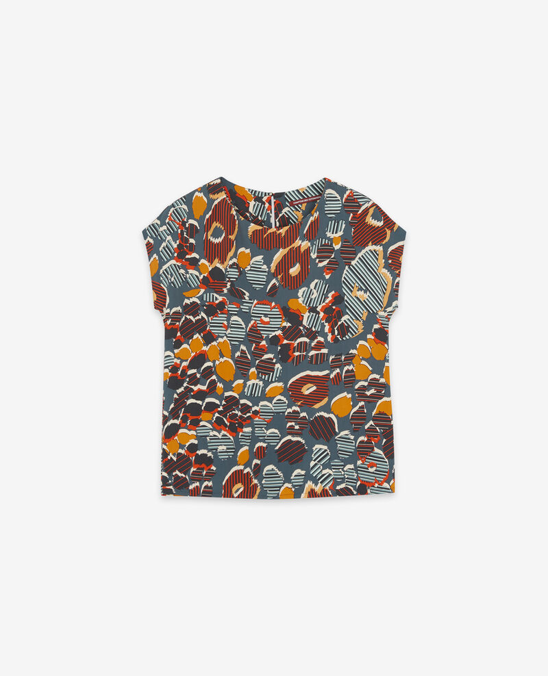 Floaty printed blouse Shaft curcuma Daurore
