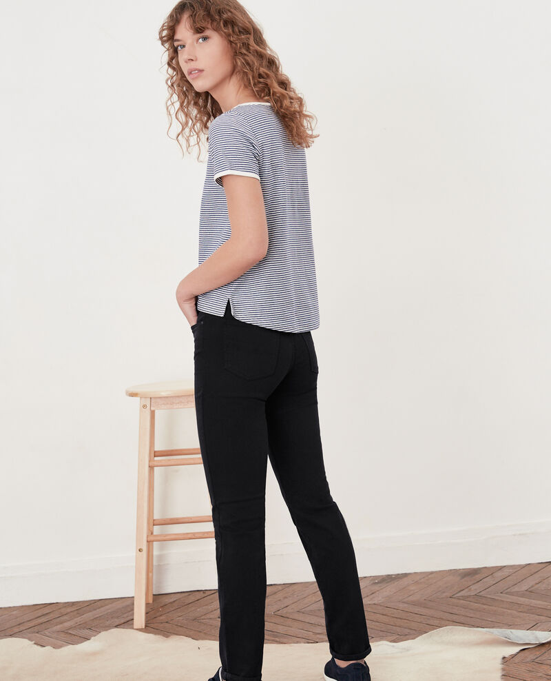 Soft touch cigarette fit jeans Navy Dhanna