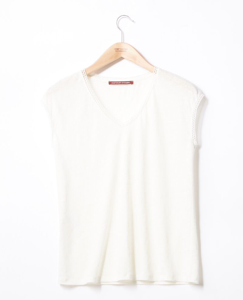Linen T-shirt OFF WHITE