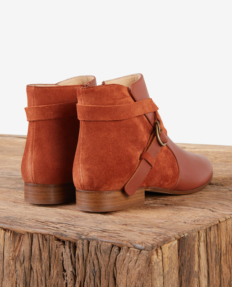 Leather panelled boots Rust Dinstinct