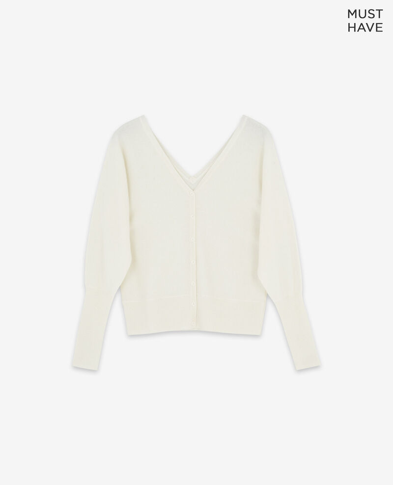 100% cashmere cardigan Off white Dusexy