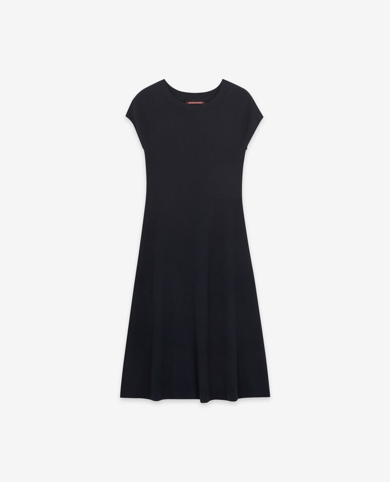 Seamless knitted dress Navy Dema