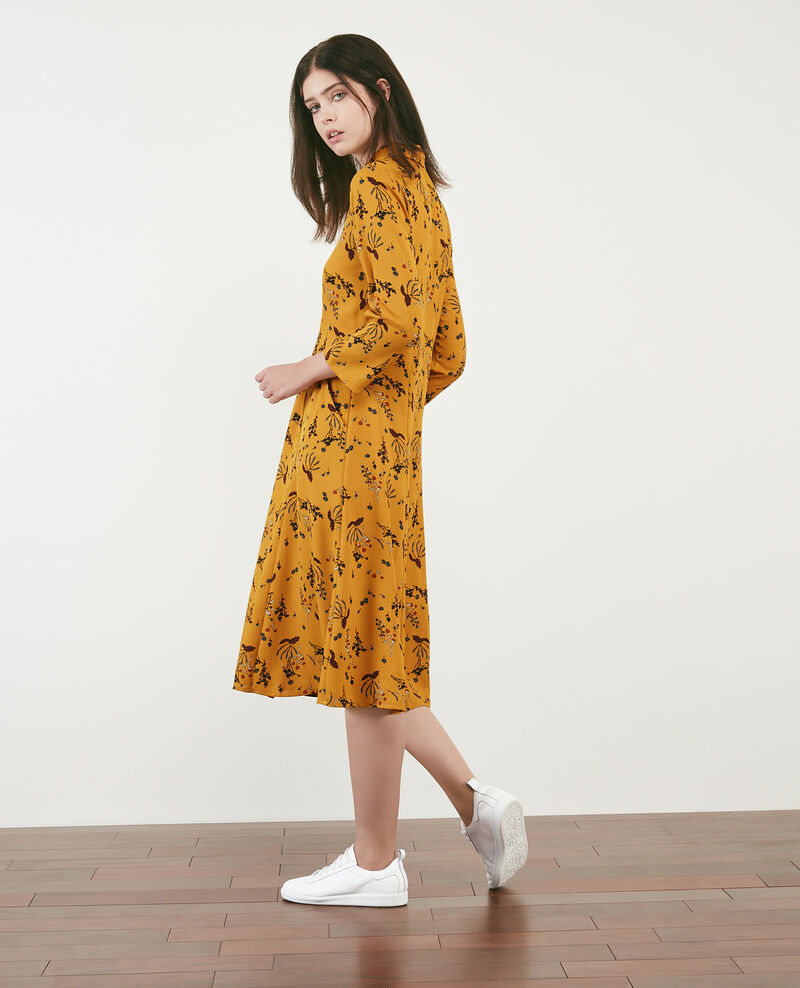 Printed dress Arty garden curcuma Daphne