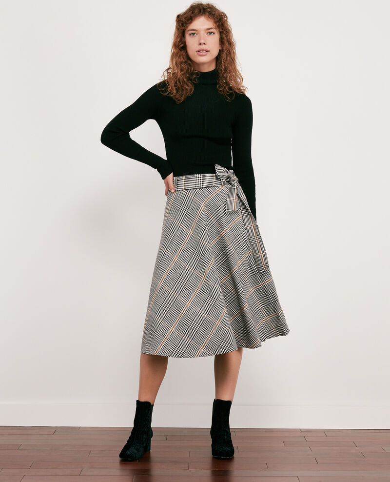 Skirt with herringbone print Kensington black Dija