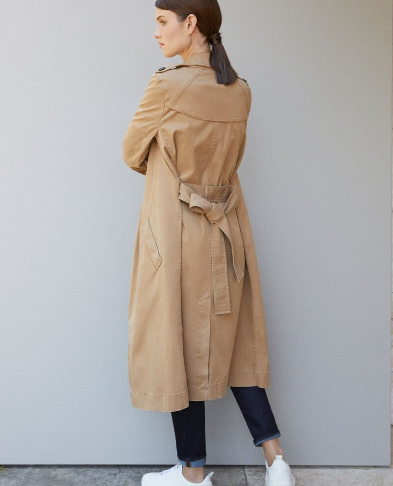 Long floaty trench coat Chamois rose 9betina