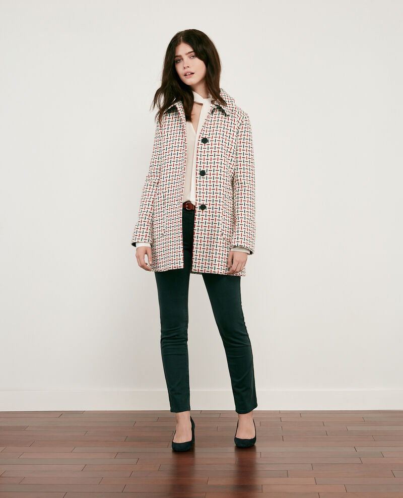 Wool blend tweed coat Off white Diarritz