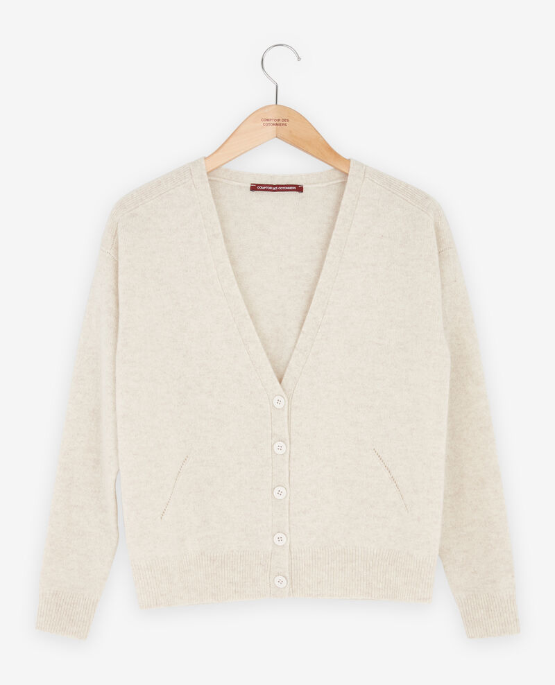 Cashmere cardigan Heather chalk Fremir
