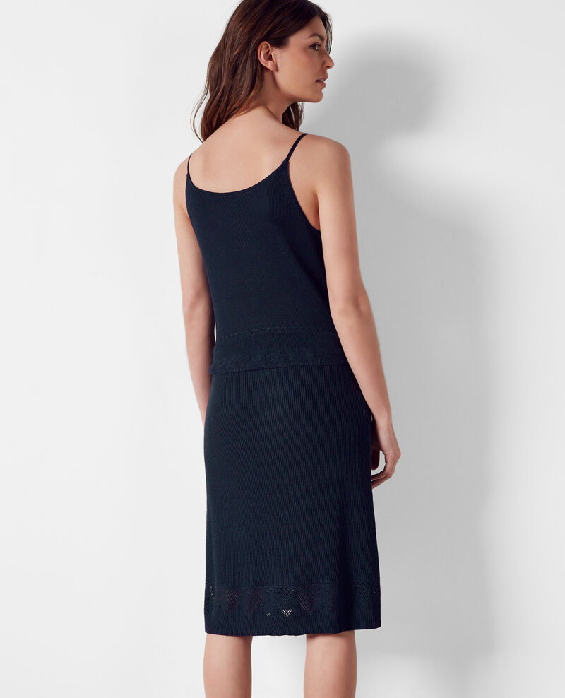 Half-length knit dress Midnight Coupdoeil