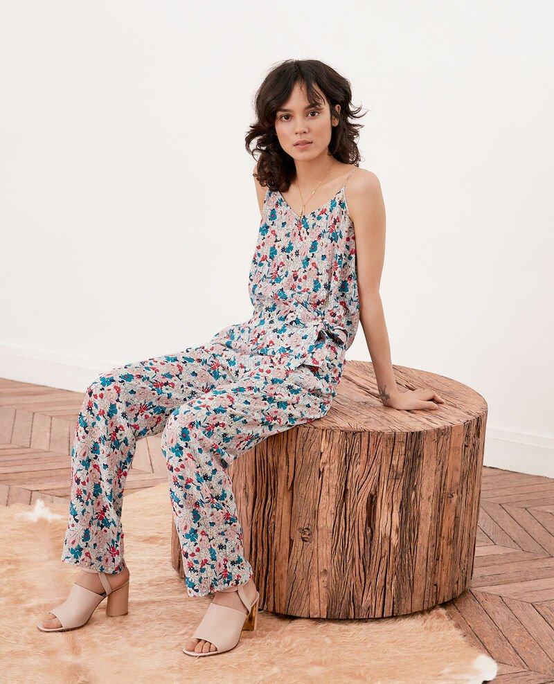 Silk jumpsuit Summer bloom rosebud Frac