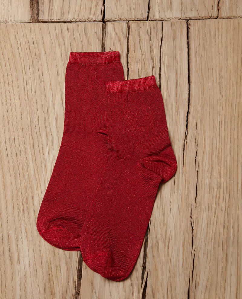 Lurex blend socks Pompeian red Gaussette