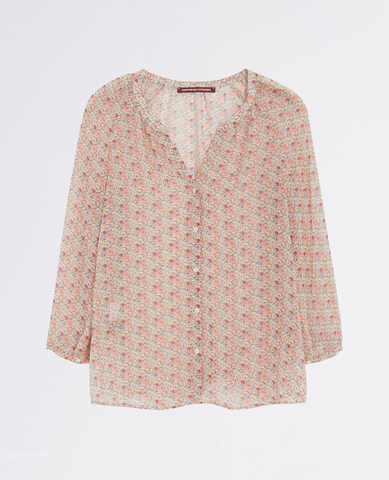 Light and airy print blouse Coklico misty rose Cangoon