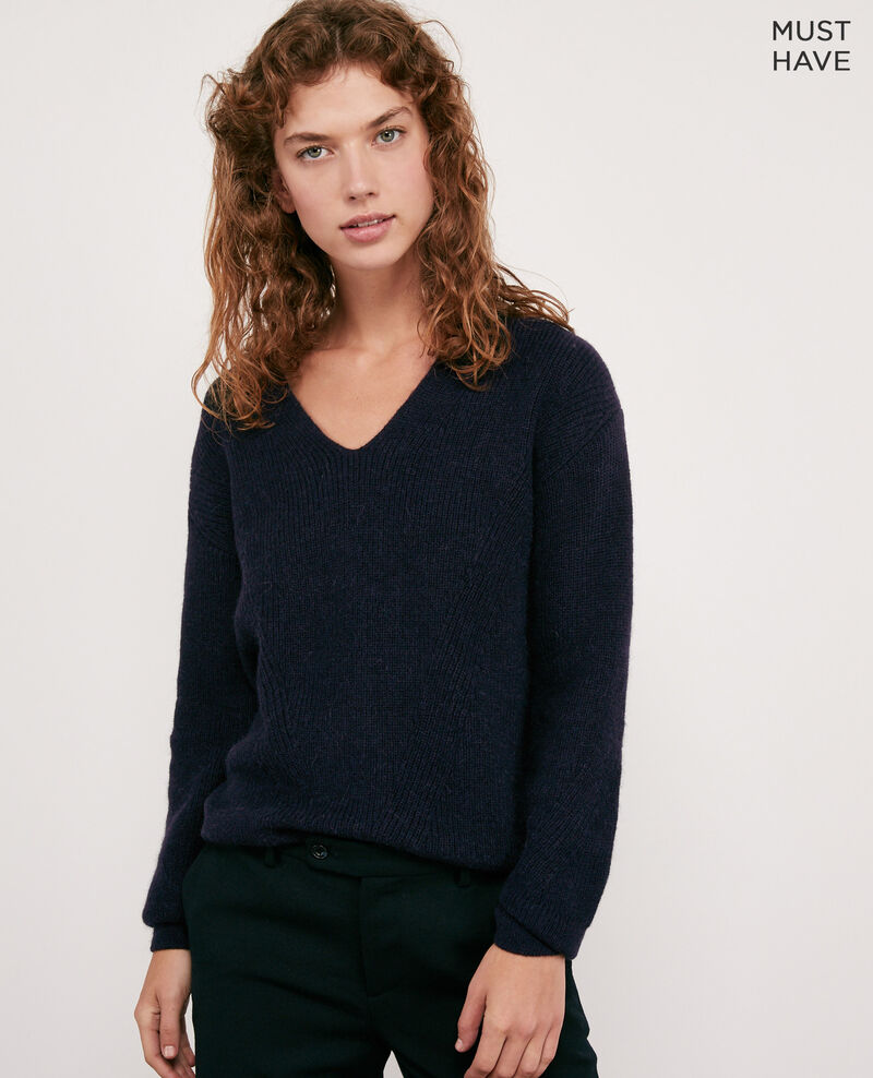 Woll and alpaca jumper NAVY