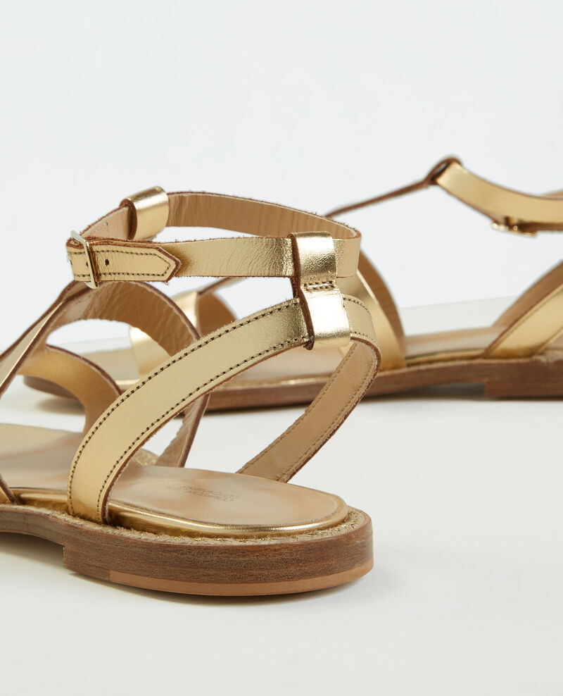 Flat sandals Gold Cachetier