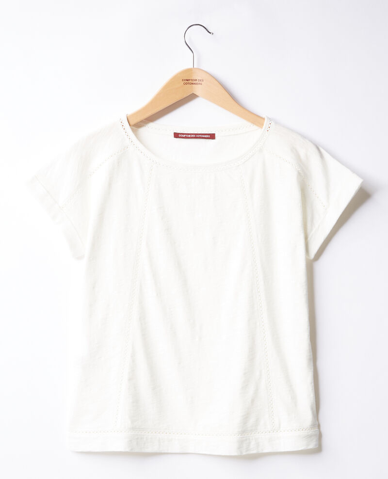 T-shirt with braid Blanc Fenouil