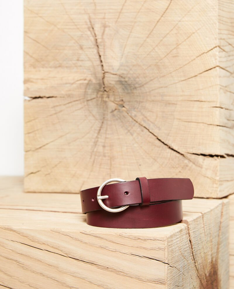 Smooth leather belt, medium model DECADENTE CHOCOLATE