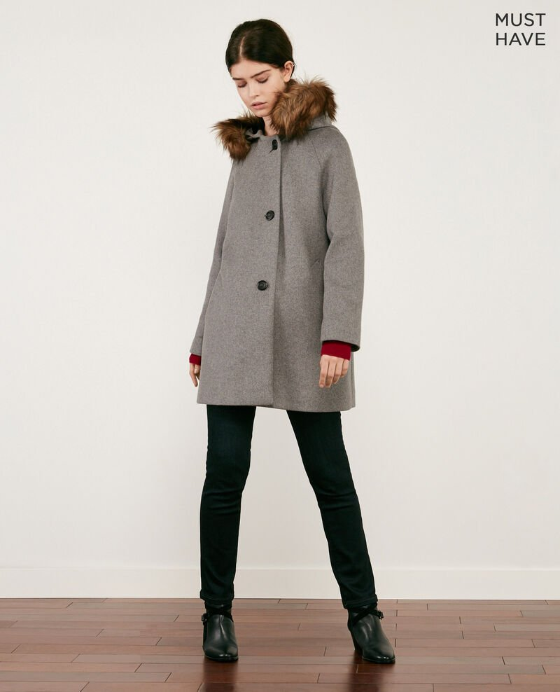 Wool coat MEDIUM HEATHER GREY