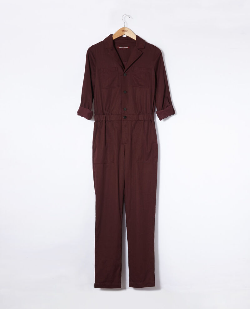 Deep neck jumpsuit Decadente chocolate Giobatta