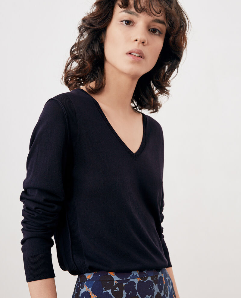 Jumper with silk NAVY