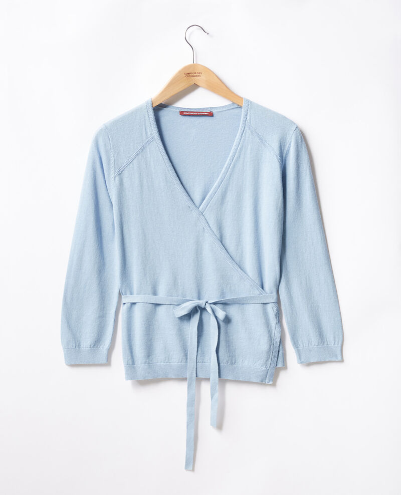 Wrap cardigan with linen AZUR