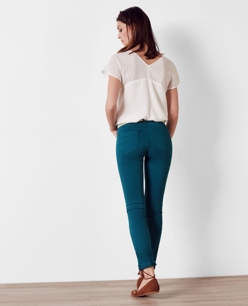 Fille dans le vent velvety-feel straight jeans  Berlin blue Cigogne