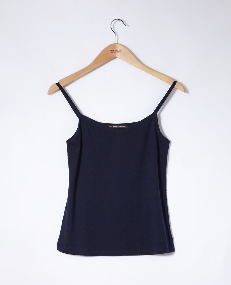 Vest top with spaghetti straps Peacoat Gagnant