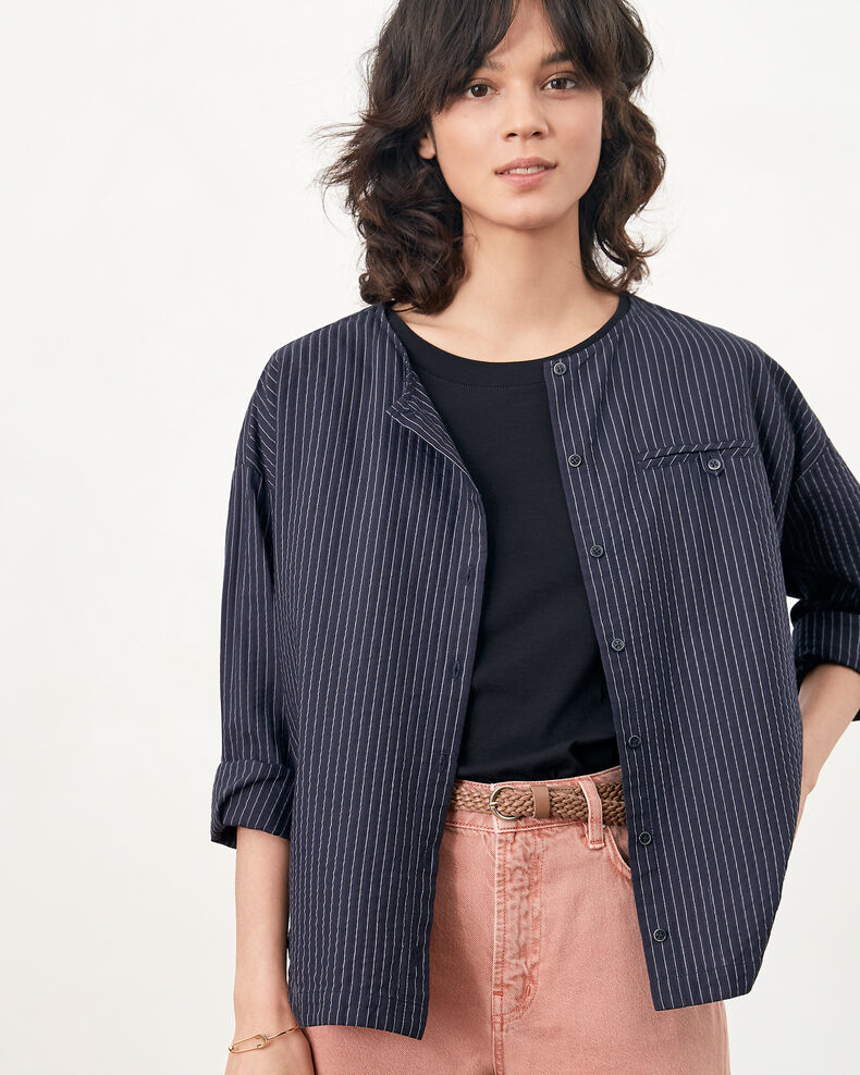 Striped shirt Navy/off white stripes Falaise