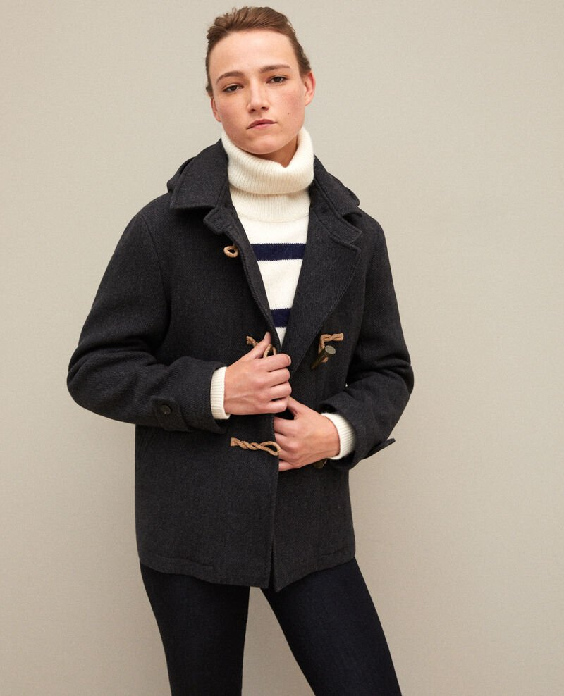 Short duffle coat DARK HEATHER GREY