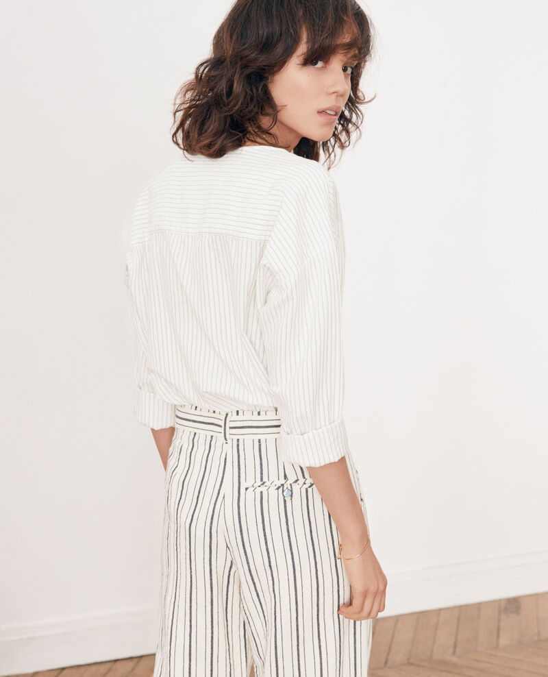 Striped shirt Off white/navy stripes Falaise
