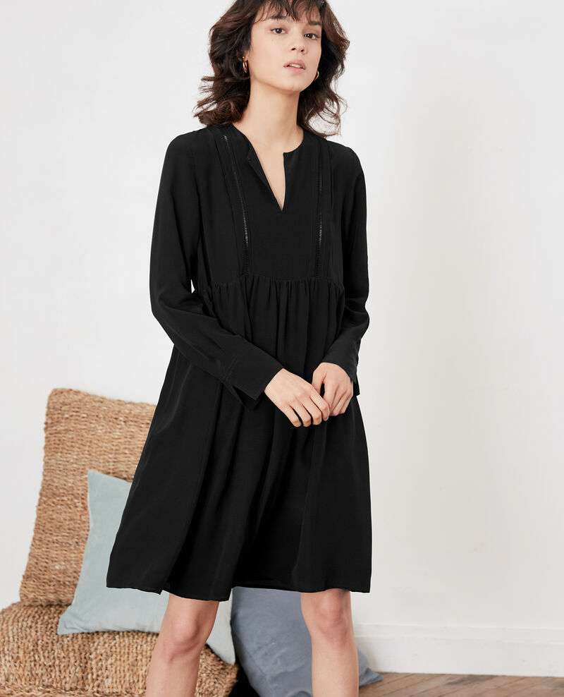 Silk dress NOIR