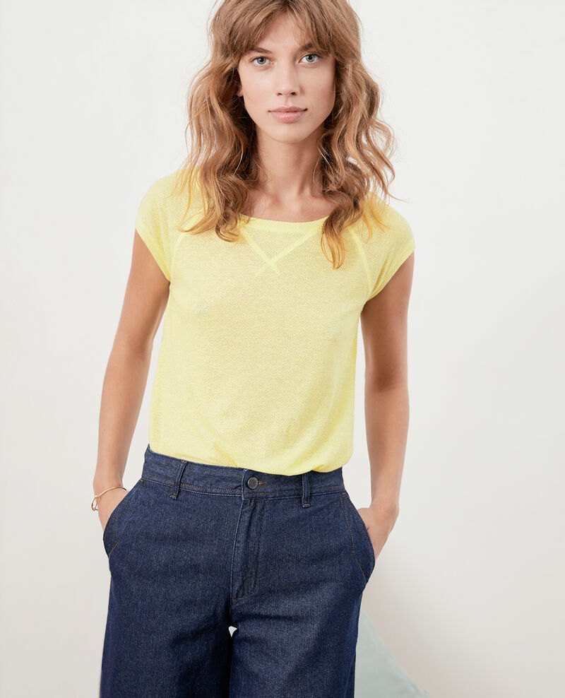 Iridescent T-shirt with linen LEMONADE