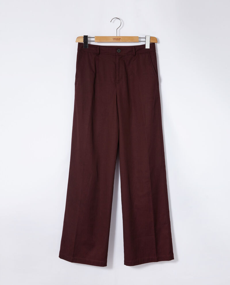 Loose fit trousers Decadente chocolate Gabin
