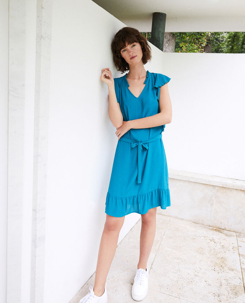 Frilly dress PACIFIC GREEN