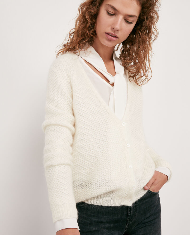 Mohair cardigan Off white Djoan
