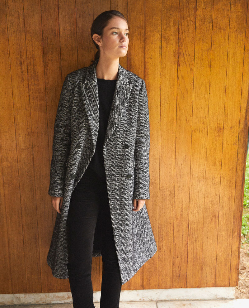 Timeless tailored coat NOIR/BLANC