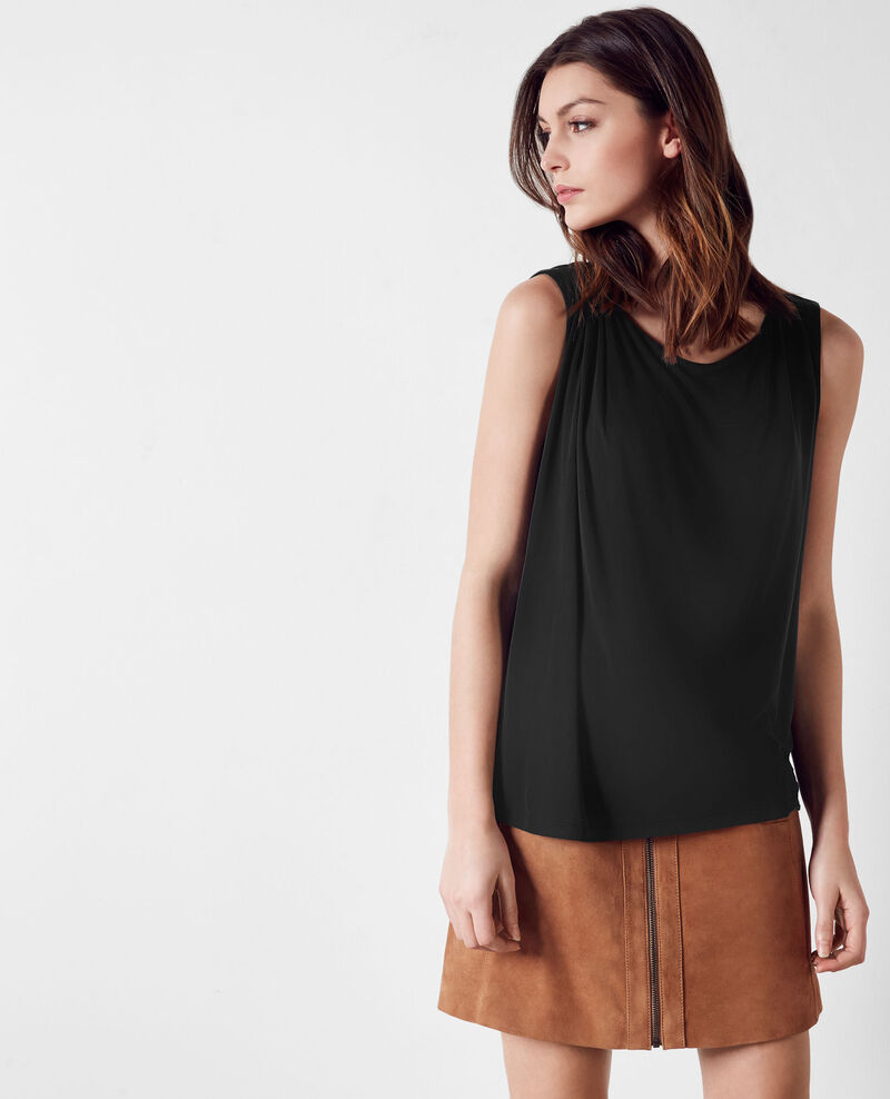 Loose fit top Noir Calissa