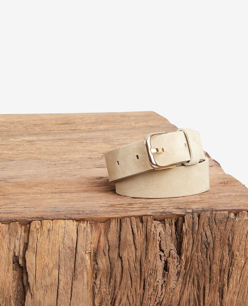 Suede leather belt CLAY
