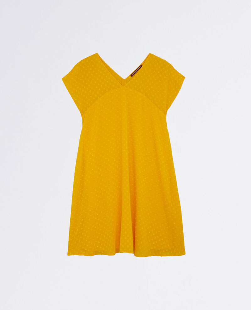 Loose-fitting dress in dotted Swiss voile Crayola Ciflocka