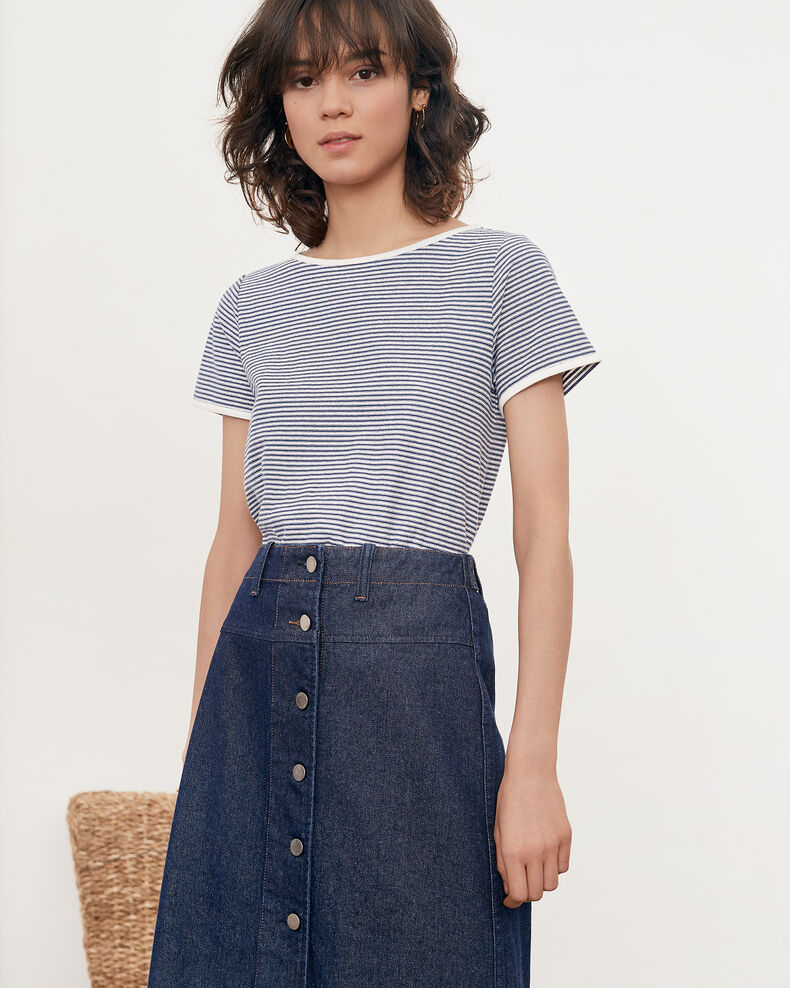 Striped T-shirt KAOLIN/INDIGO