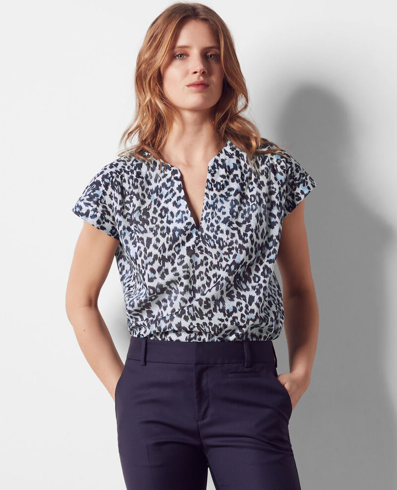 Oversize print blouse Wild panthere Candy