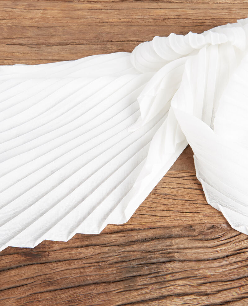 Pleated scarf Off white Flissage